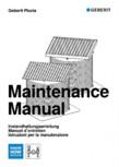 Instructiuni de intretinere pentru setul de completare, care suporta greutate GEBERIT - Geberit Pluvia