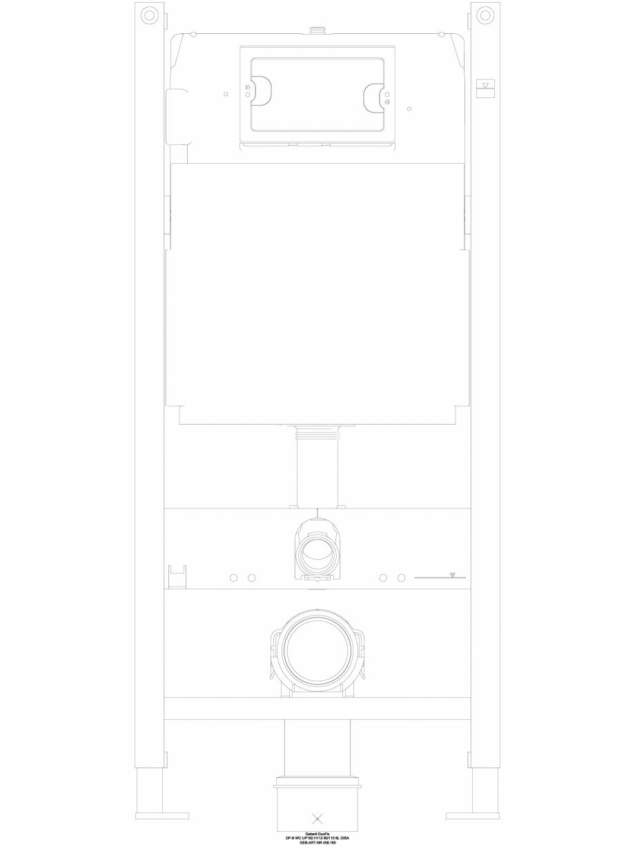 Pagina 1 - CAD-DWG Pachet de renovare cu rezervor incastrat GEBERIT Detaliu de produs Duofix, Delta