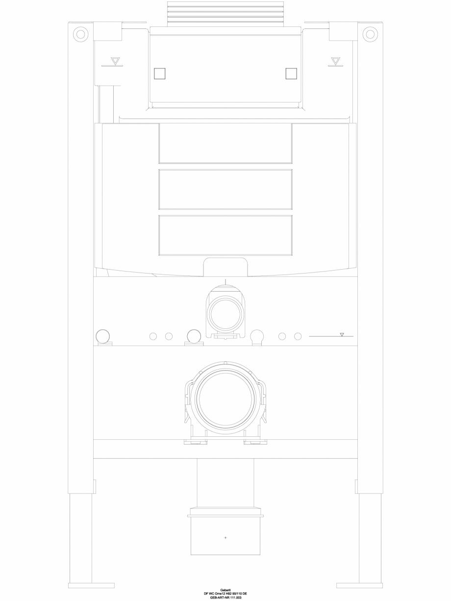 Pagina 1 - CAD-DWG Pachet de renovare cu rezervor incastrat GEBERIT Detaliu de produs Duofix, Omega