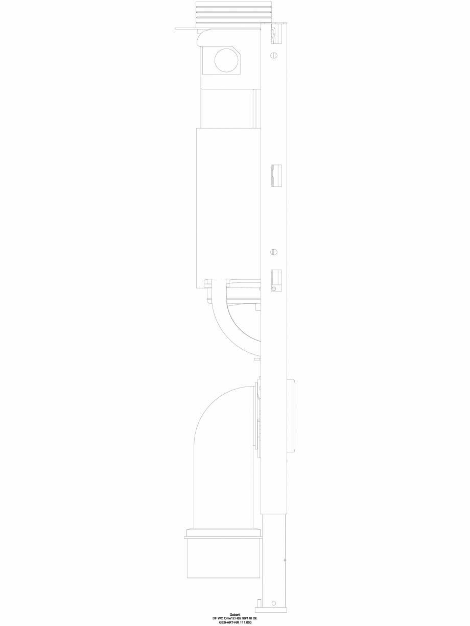 Pagina 1 - CAD-DWG Pachet de renovare cu rezervor incastrat - vedere din lateral GEBERIT Detaliu de ...