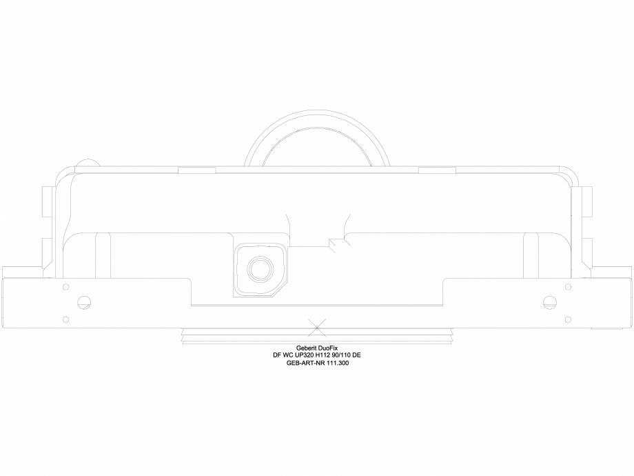 Pagina 1 - CAD-DWG Pachet de renovare cu rezervor incastrat - vedere de sus GEBERIT Detaliu de...