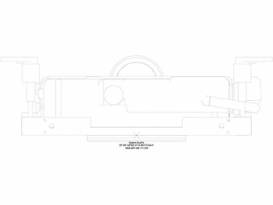 Pagina 1 - CAD-DWG Sistem DuoFresh cu unitate de exhaustare a mirosurilor - vedere de sus GEBERIT...