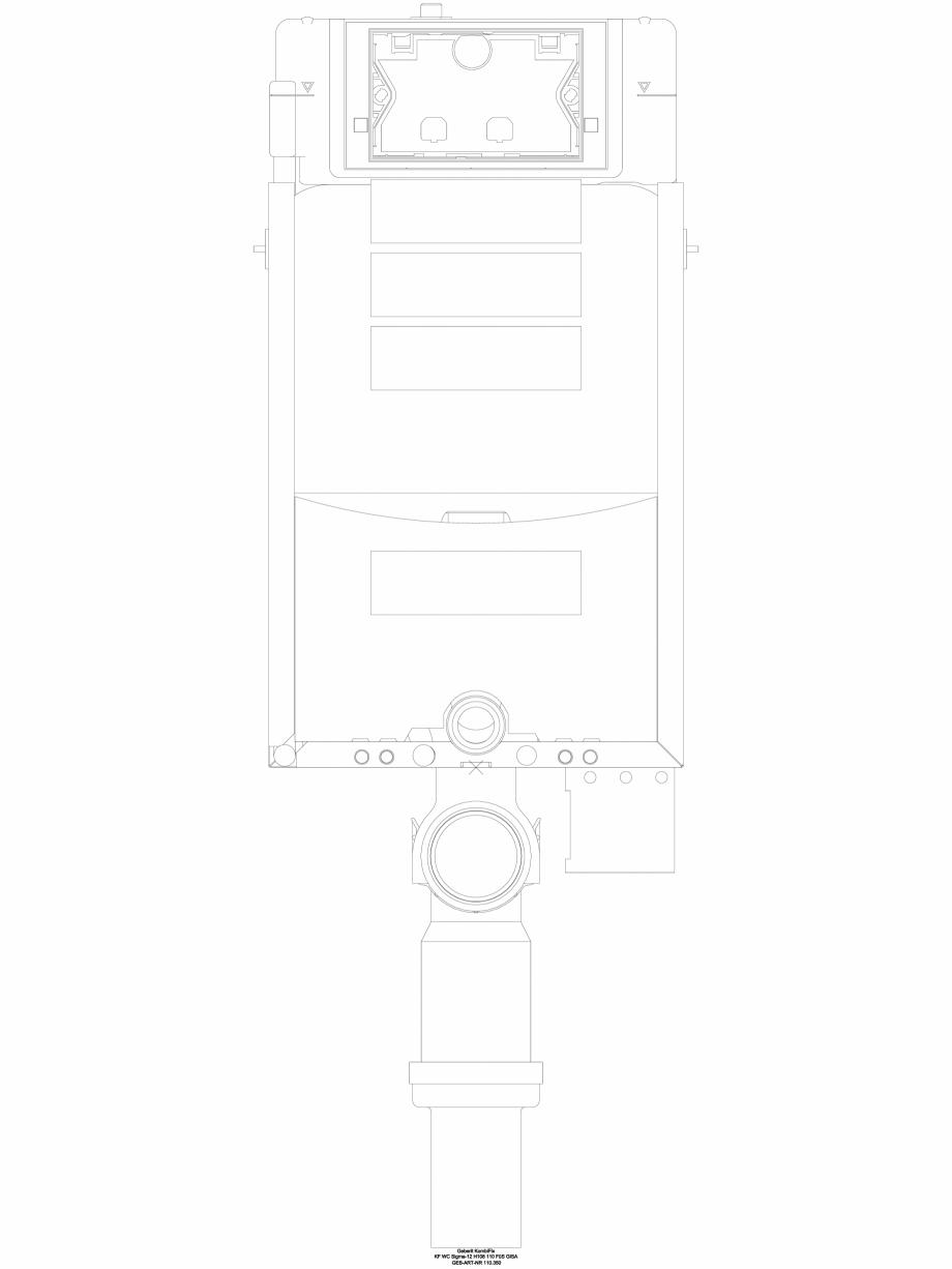 Pagina 1 - CAD-DWG Element de instalare WC GEBERIT Detaliu de produs  Sigma 8, Sigma 12