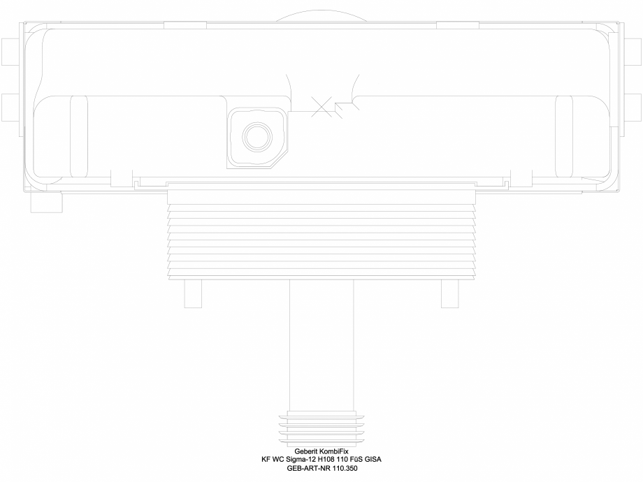 Pagina 1 - CAD-DWG Element de instalare WC - vedere de sus GEBERIT Detaliu de produs  Sigma 8, Sigma...