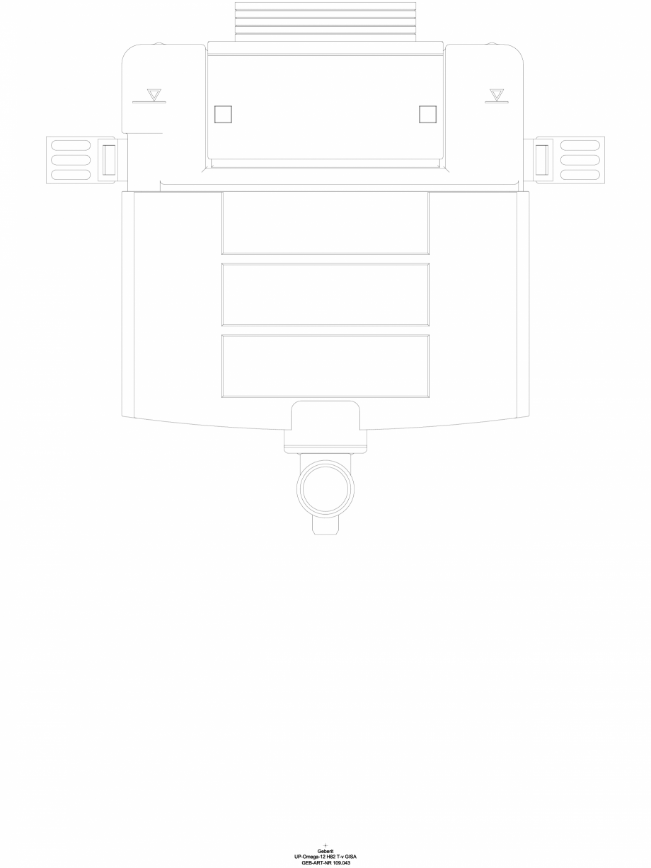 Pagina 1 - CAD-DWG Rezervor incastrat Geberit Omega 12 cm, 6/3 litri, inaltime de montare 82 cm cod ...
