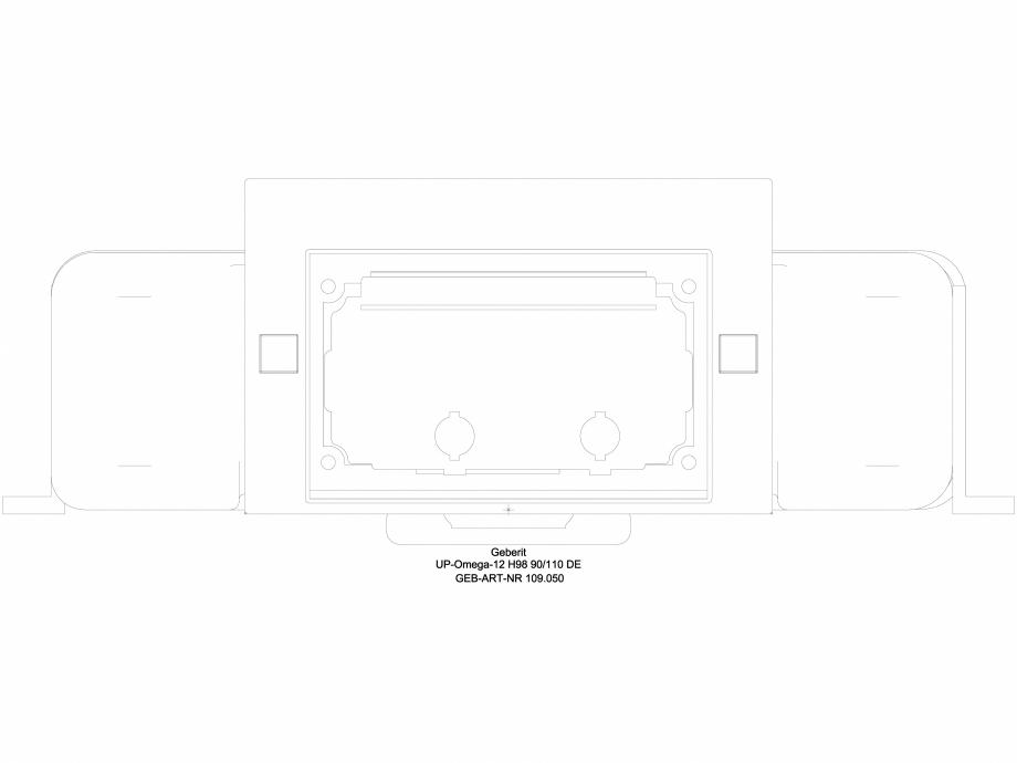 Pagina 1 - CAD-DWG Rezervor incastrat Geberit Omega 12 cm, 6 /3 litri, inaltime de montare 98 cm cod...