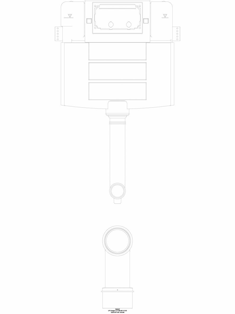 Pagina 1 - CAD-DWG Rezervor incastrat Geberit Omega 12 cm, 6/3 litri, inaltime de montare 106 cm cod...