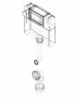 Rezervor incastrat Geberit Omega 12 cm 6 3 litri inaltime de montare 106 cm cod 109