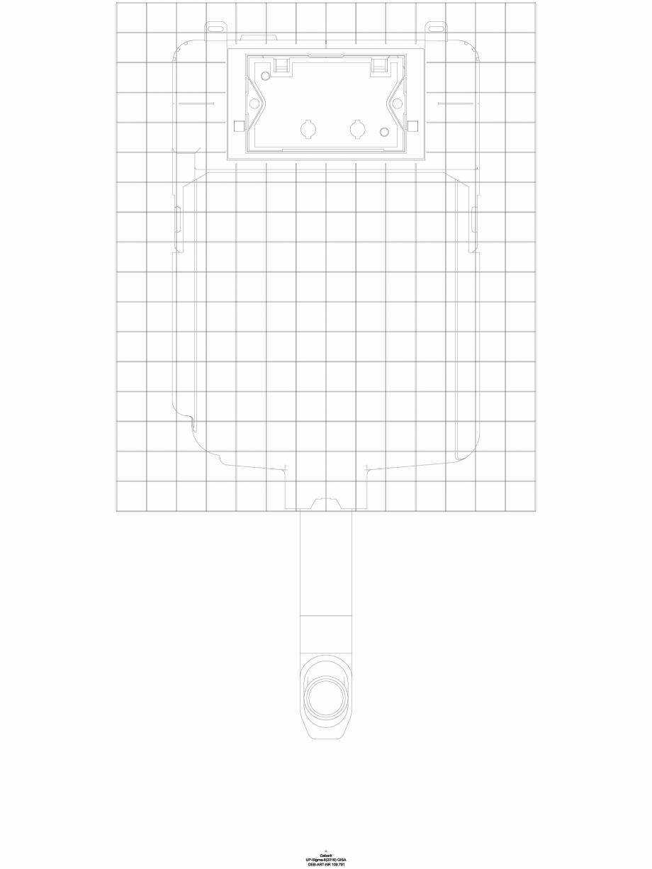 Pagina 1 - CAD-DWG Rezervor incastrat Geberit Sigma 8 cm, 6/3 litri cod 109.791.00.1_A GEBERIT...