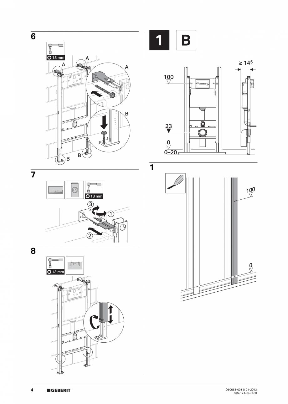 Pagina 4 - Manual de instalare rezervoare incastrate GEBERIT Duofix, Delta Instructiuni montaj,...