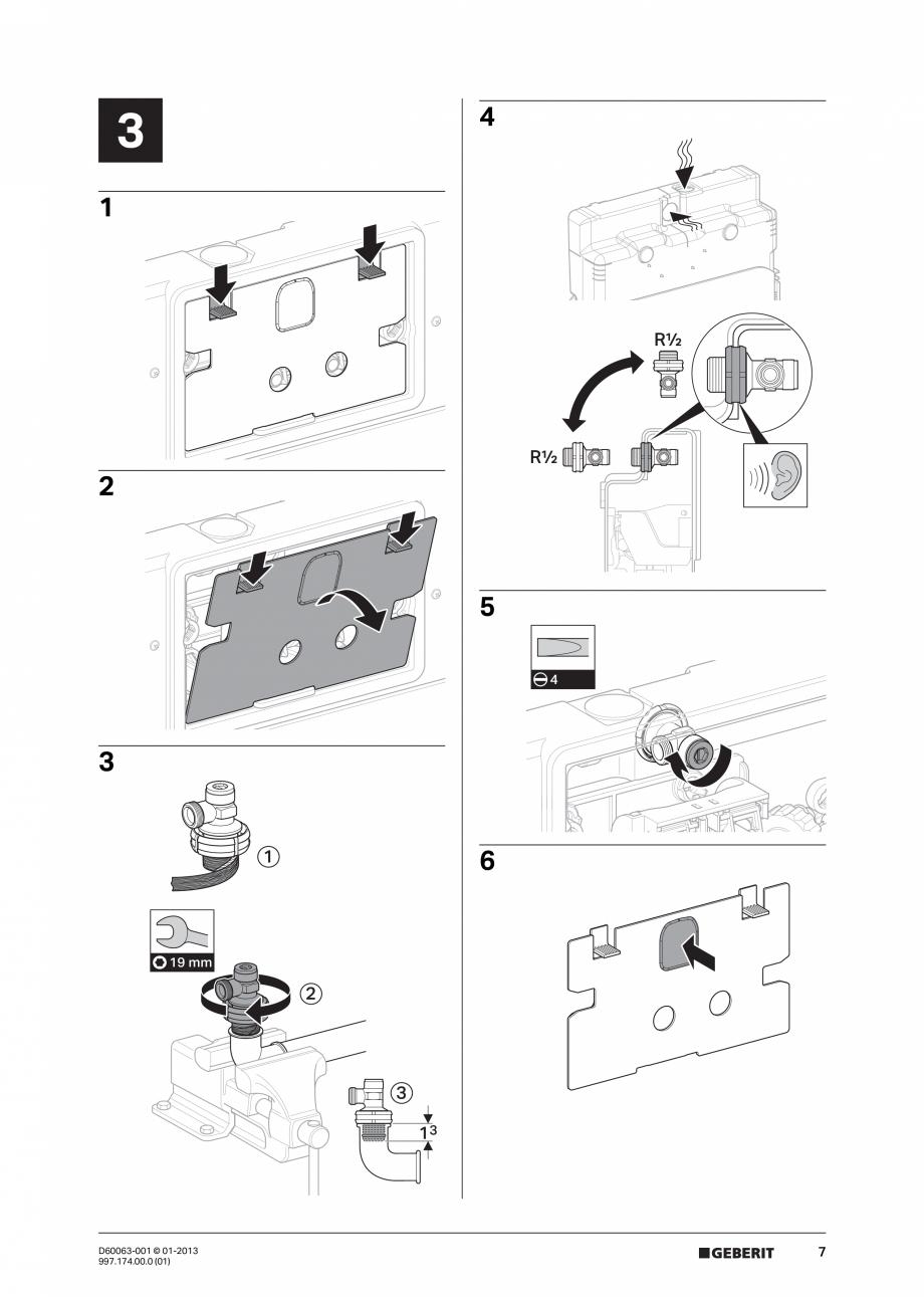 Pagina 7 - Manual de instalare rezervoare incastrate GEBERIT Duofix, Delta Instructiuni montaj,...