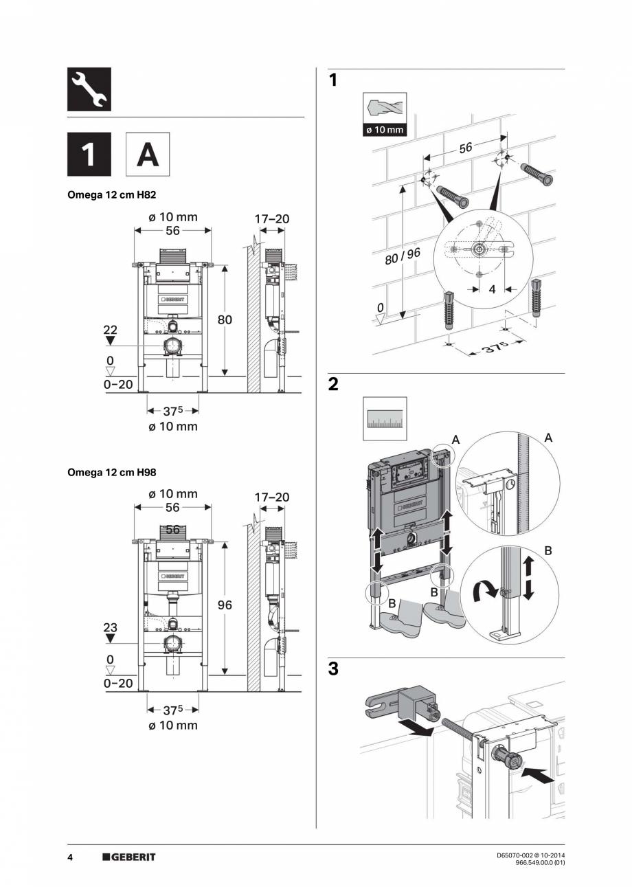 Manual de instalare rezervoare incastrate GEBERIT Duofix