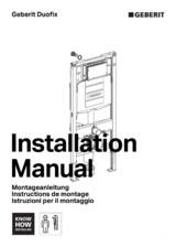 Manual de instalare rezervor incastrat Geberit GEBERIT