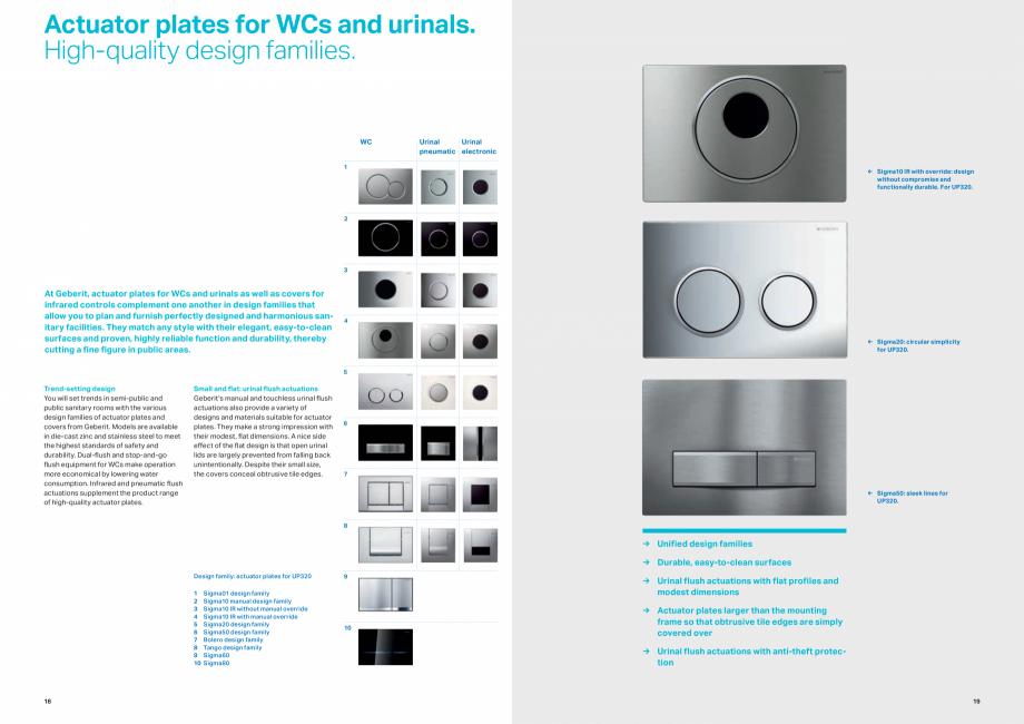 Pagina 10 - Gama de produse pentru spatii publice GEBERIT Omega, Duofix,  Sigma 8, Delta, Sigma 12  ...