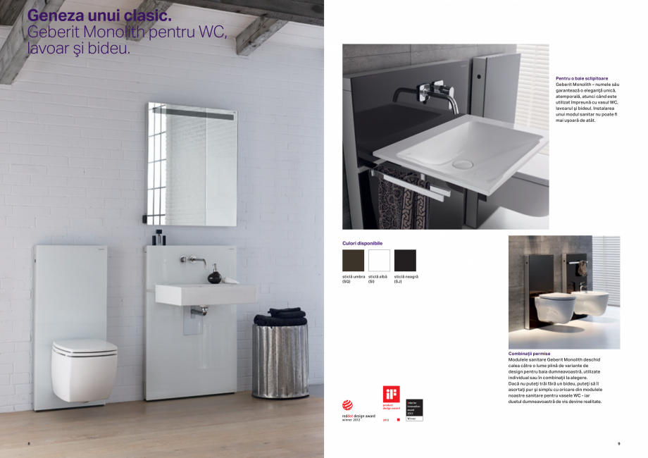 Pagina 5 - Design inteligent pentru baie GEBERIT Omega, Duofix,  Sigma 8, Delta, Sigma 12  Catalog, ...