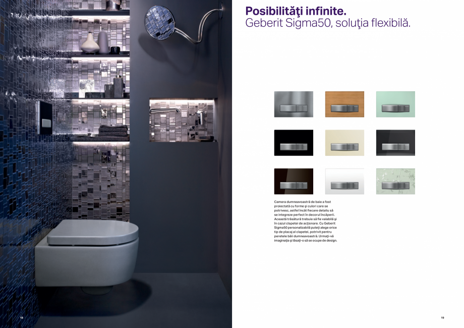 Pagina 10 - Design inteligent pentru baie GEBERIT Omega, Duofix,  Sigma 8, Delta, Sigma 12  Catalog,...