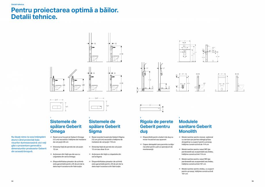 Pagina 18 - Design inteligent pentru baie GEBERIT Omega, Duofix,  Sigma 8, Delta, Sigma 12  Catalog,...
