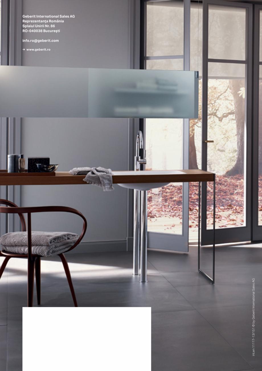 catalog brosura geberit design inteligent pentru baie. Black Bedroom Furniture Sets. Home Design Ideas