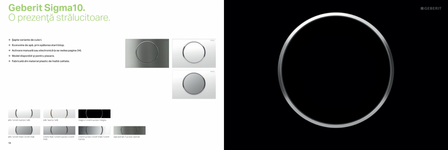 Pagina 6 - Clapete de actionare pentru WC GEBERIT Omega, Duofix,  Sigma 8, Delta, Sigma 12  Catalog,...