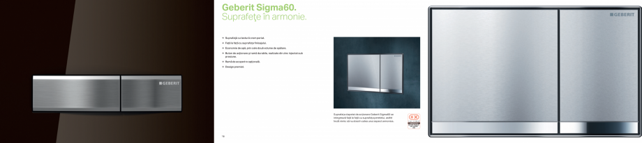 Pagina 9 - Clapete de actionare pentru WC GEBERIT Omega, Duofix,  Sigma 8, Delta, Sigma 12  Catalog,...