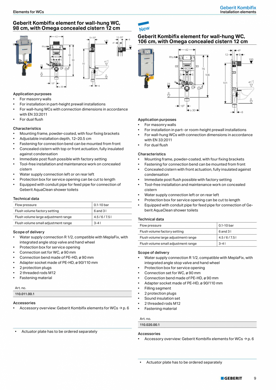 Pagina 9 - Sisteme sanitare 2015-2016 GEBERIT Delta, Sigma 12 , Omega, Duofix,  Sigma 8 Catalog,...