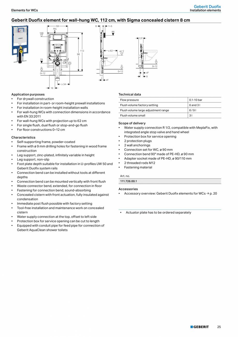 Pagina 25 - Sisteme sanitare 2015-2016 GEBERIT Delta, Sigma 12 , Omega, Duofix,  Sigma 8 Catalog,...