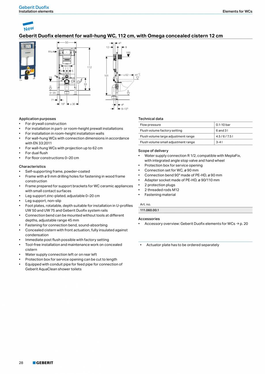 Pagina 28 - Sisteme sanitare 2015-2016 GEBERIT Delta, Sigma 12 , Omega, Duofix,  Sigma 8 Catalog,...