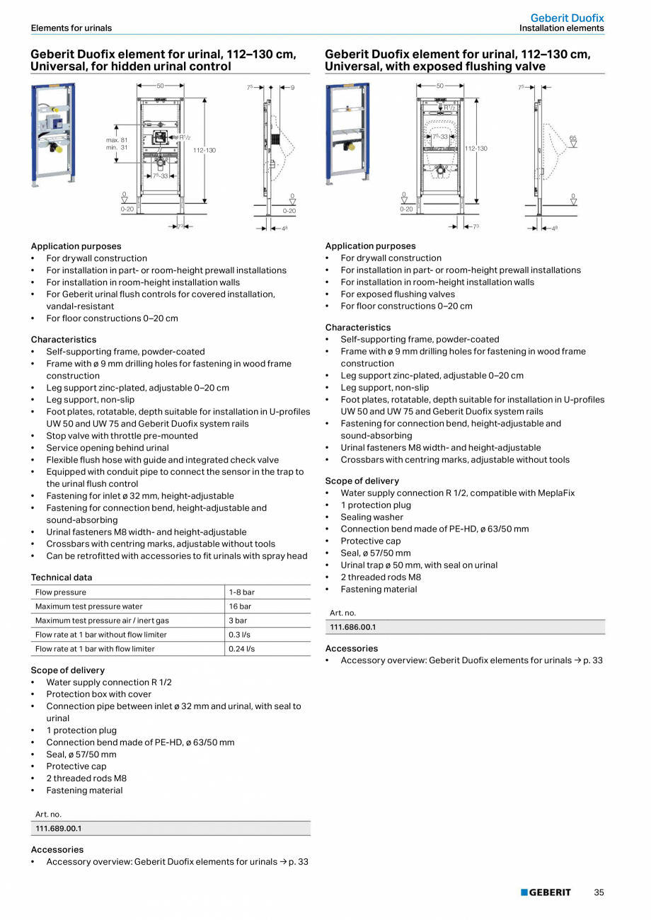 Pagina 35 - Sisteme sanitare 2015-2016 GEBERIT Delta, Sigma 12 , Omega, Duofix,  Sigma 8 Catalog,...