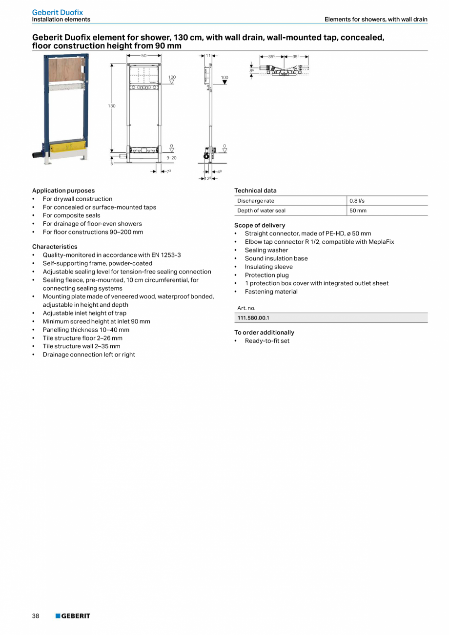 Pagina 38 - Sisteme sanitare 2015-2016 GEBERIT Delta, Sigma 12 , Omega, Duofix,  Sigma 8 Catalog,...