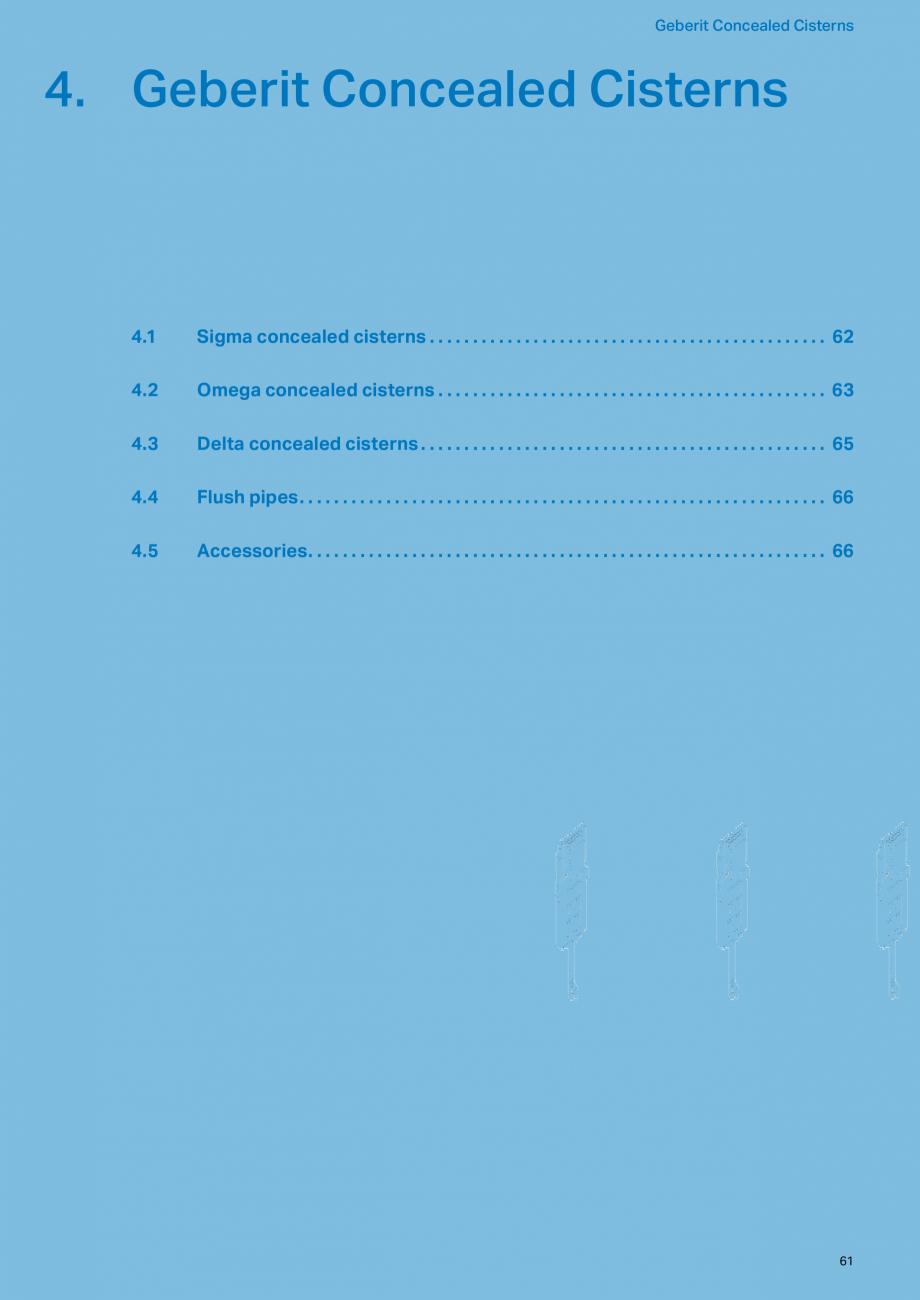 Pagina 61 - Sisteme sanitare 2015-2016 GEBERIT Delta, Sigma 12 , Omega, Duofix,  Sigma 8 Catalog,...