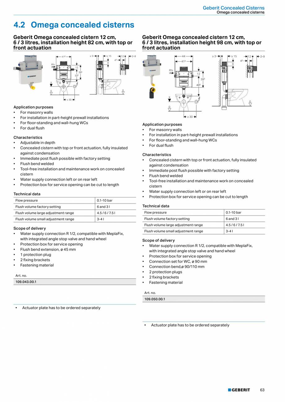 Pagina 63 - Sisteme sanitare 2015-2016 GEBERIT Delta, Sigma 12 , Omega, Duofix,  Sigma 8 Catalog,...