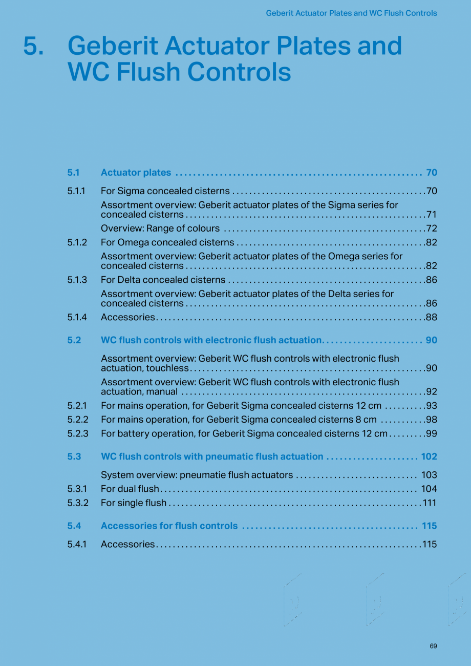 Pagina 69 - Sisteme sanitare 2015-2016 GEBERIT Delta, Sigma 12 , Omega, Duofix,  Sigma 8 Catalog,...