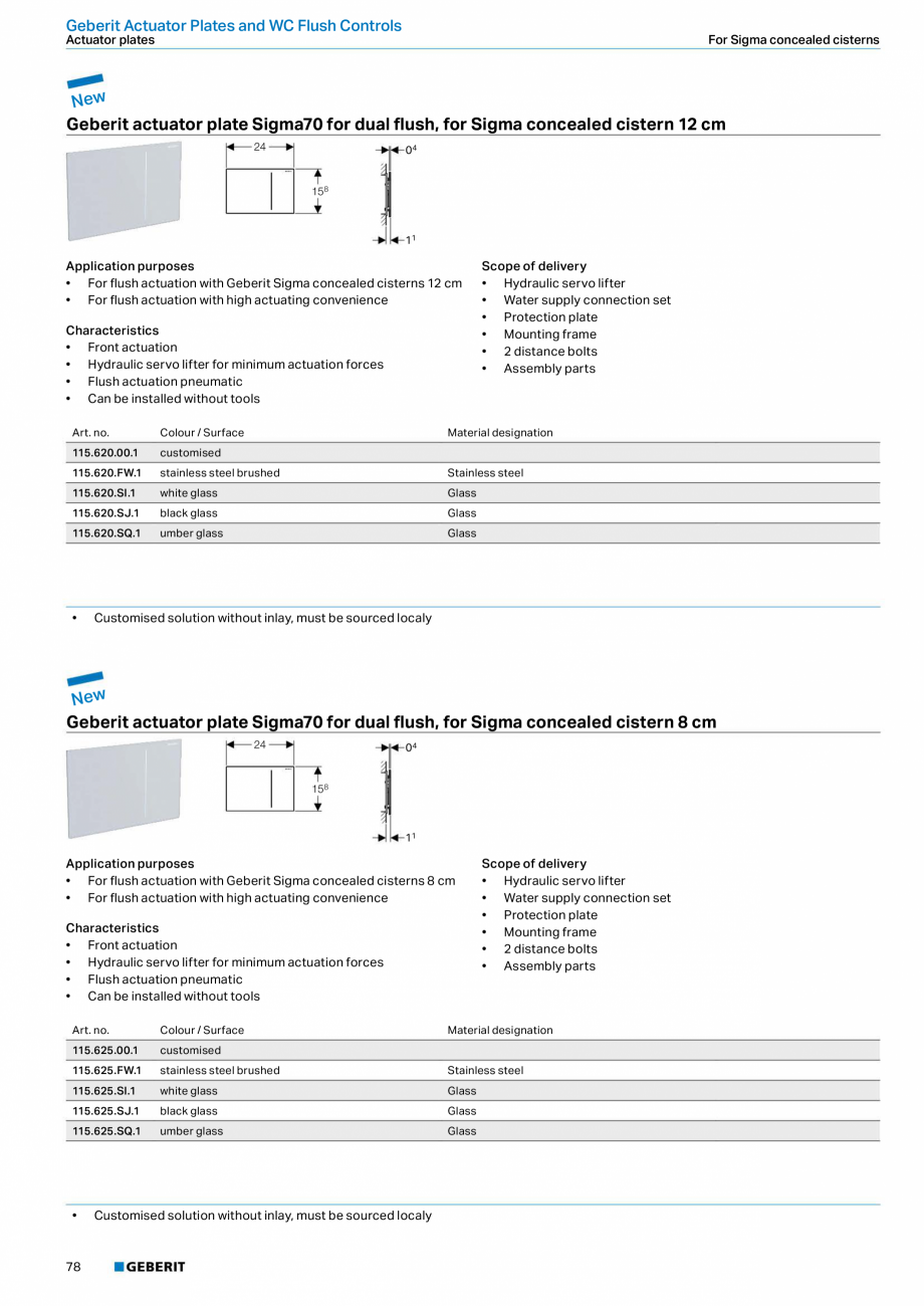 Pagina 78 - Sisteme sanitare 2015-2016 GEBERIT Delta, Sigma 12 , Omega, Duofix,  Sigma 8 Catalog,...