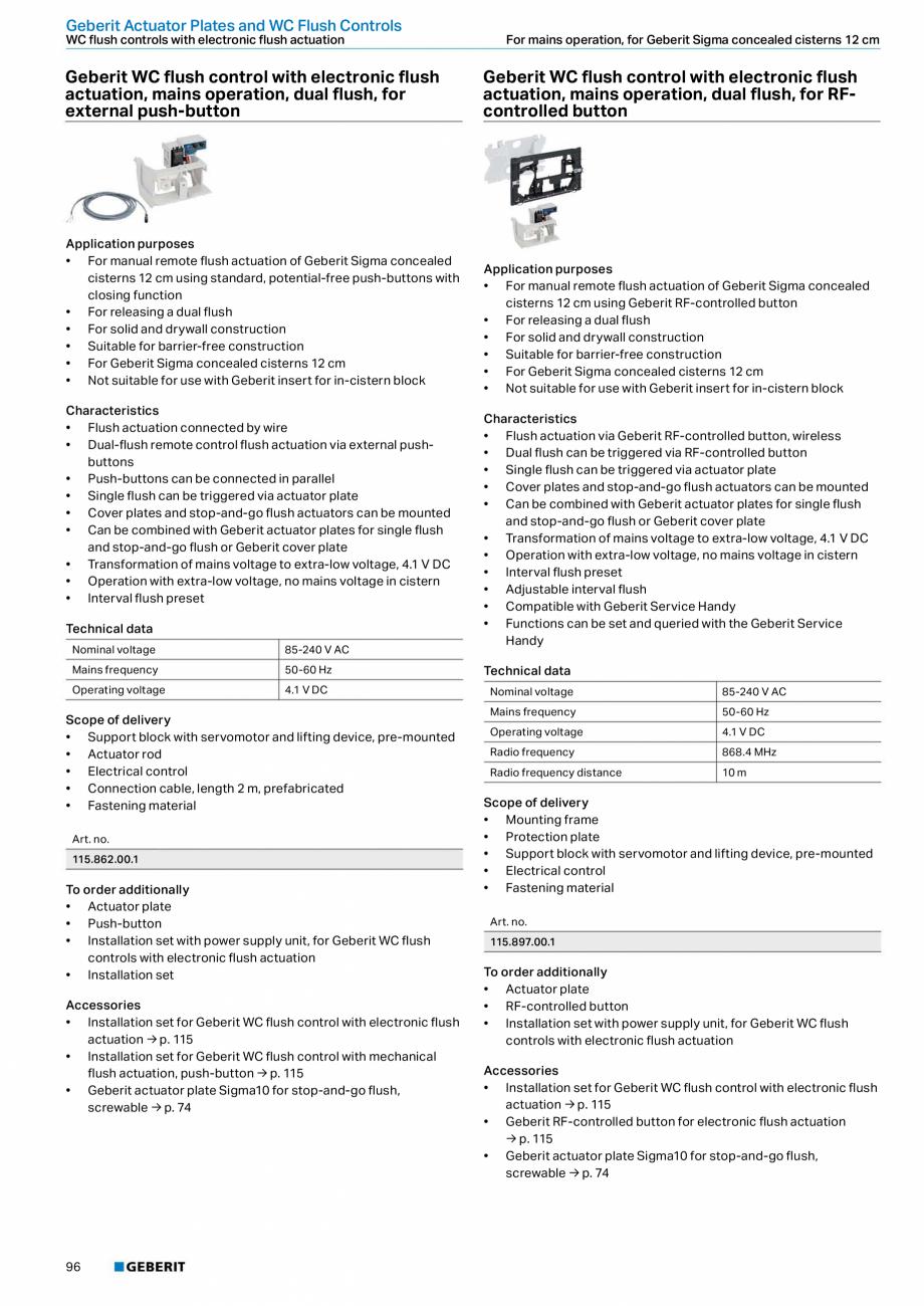 Pagina 96 - Sisteme sanitare 2015-2016 GEBERIT Delta, Sigma 12 , Omega, Duofix,  Sigma 8 Catalog,...
