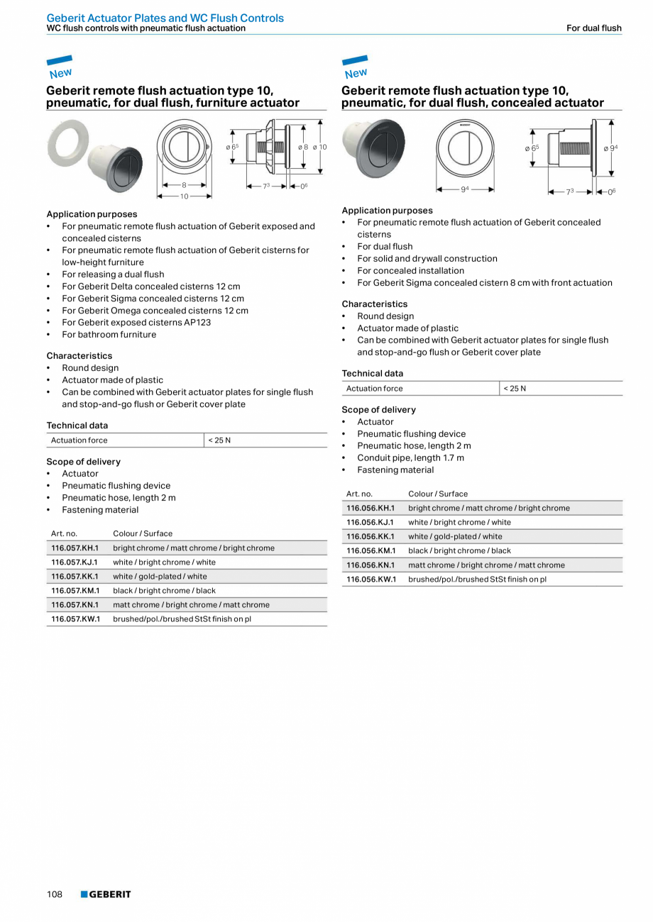 Pagina 108 - Sisteme sanitare 2015-2016 GEBERIT Delta, Sigma 12 , Omega, Duofix,  Sigma 8 Catalog,...