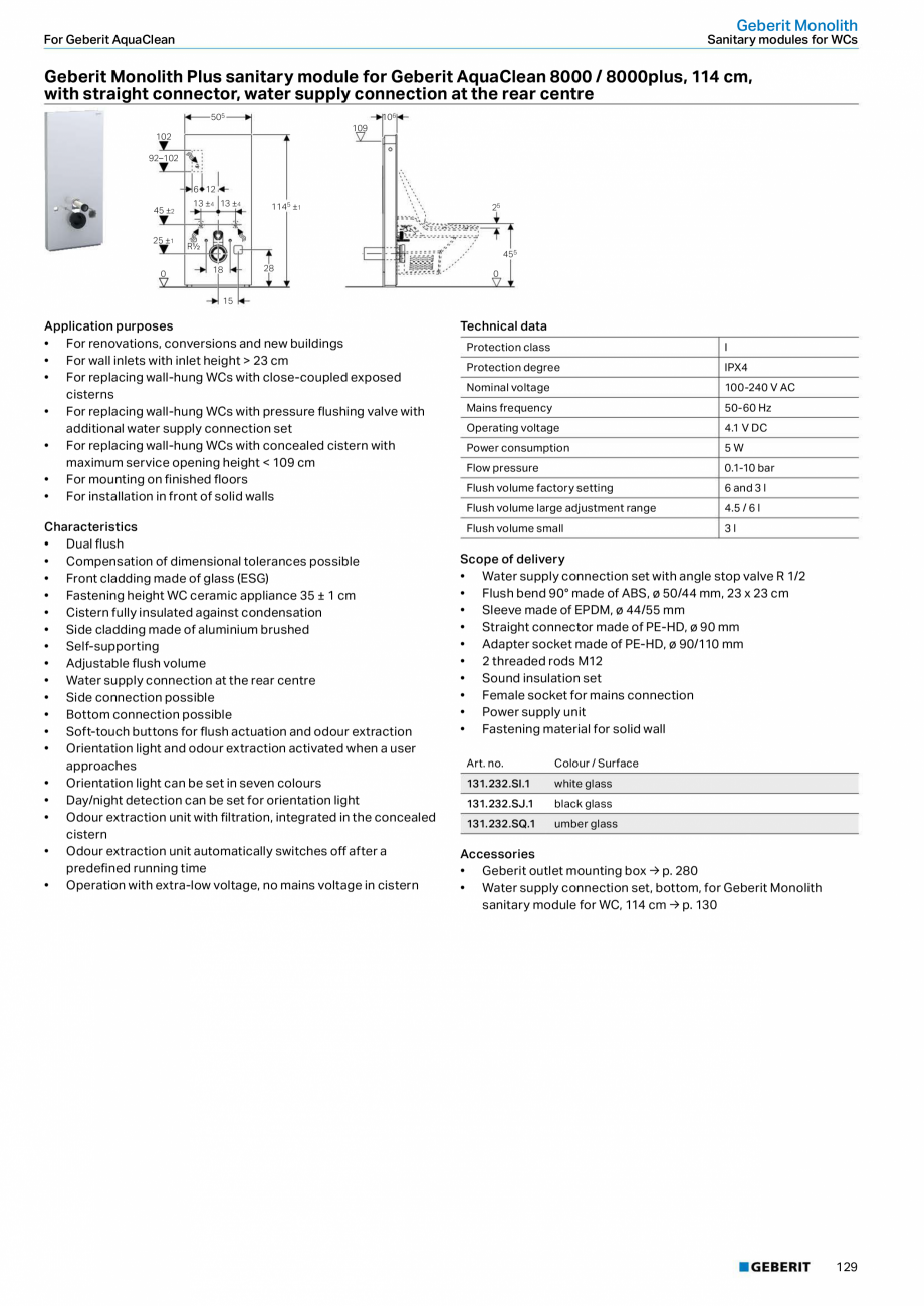 Pagina 129 - Sisteme sanitare 2015-2016 GEBERIT Delta, Sigma 12 , Omega, Duofix,  Sigma 8 Catalog,...