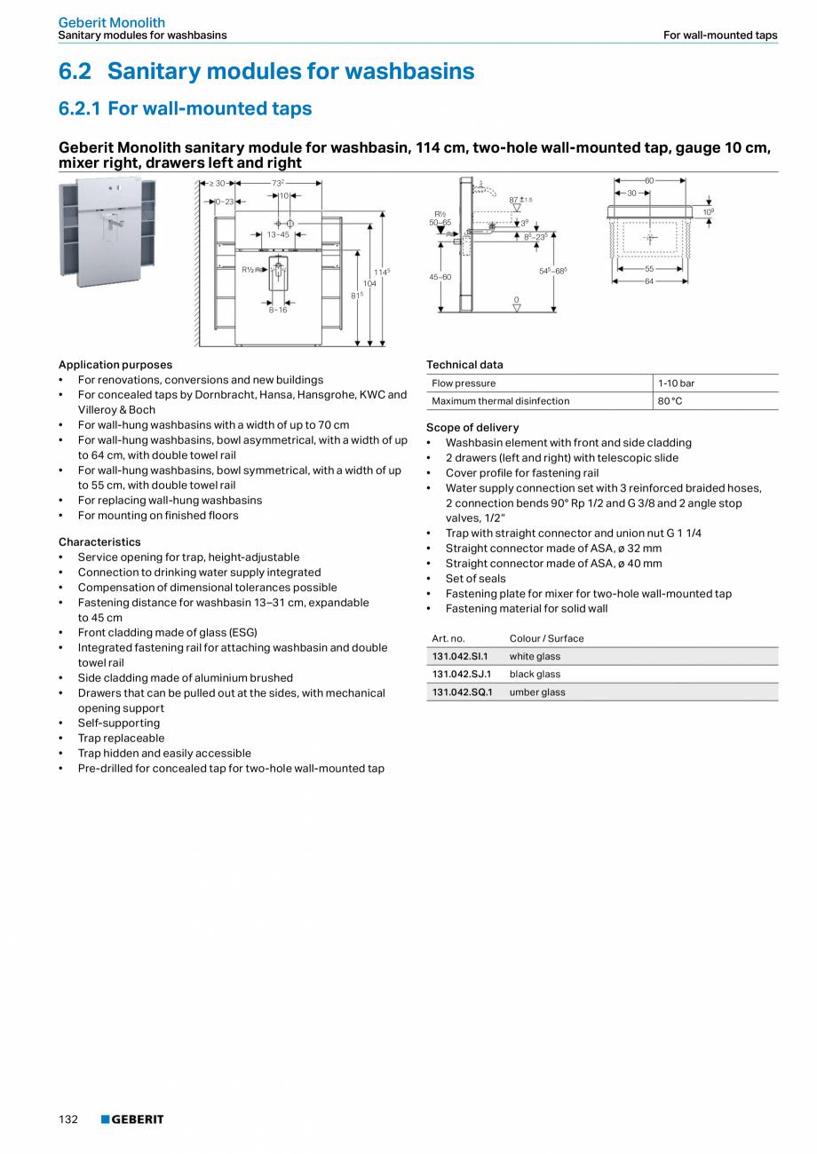 Pagina 132 - Sisteme sanitare 2015-2016 GEBERIT Delta, Sigma 12 , Omega, Duofix,  Sigma 8 Catalog,...
