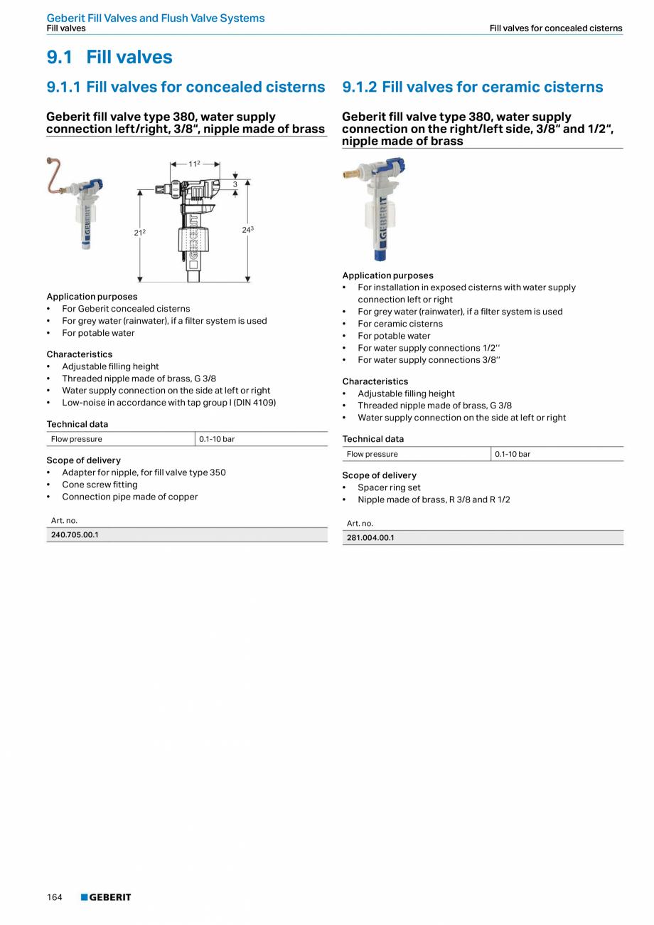 Pagina 164 - Sisteme sanitare 2015-2016 GEBERIT Delta, Sigma 12 , Omega, Duofix,  Sigma 8 Catalog,...