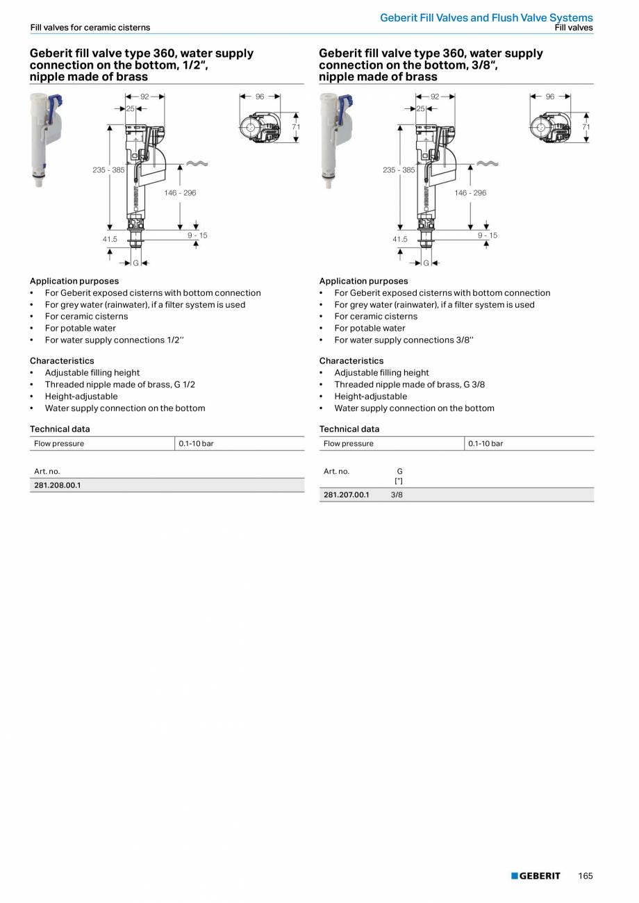 Pagina 165 - Sisteme sanitare 2015-2016 GEBERIT Delta, Sigma 12 , Omega, Duofix,  Sigma 8 Catalog,...