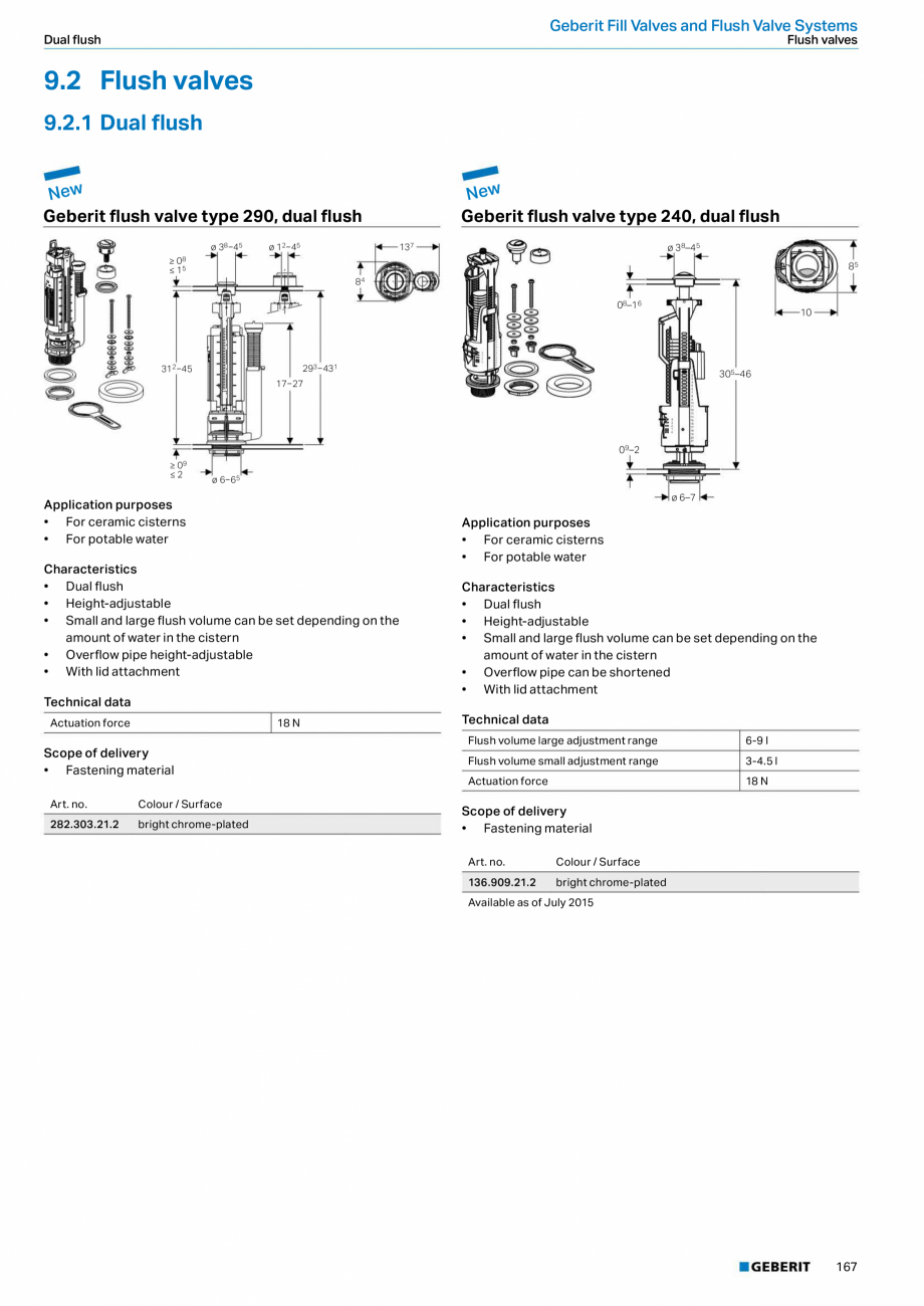 Pagina 167 - Sisteme sanitare 2015-2016 GEBERIT Delta, Sigma 12 , Omega, Duofix,  Sigma 8 Catalog,...