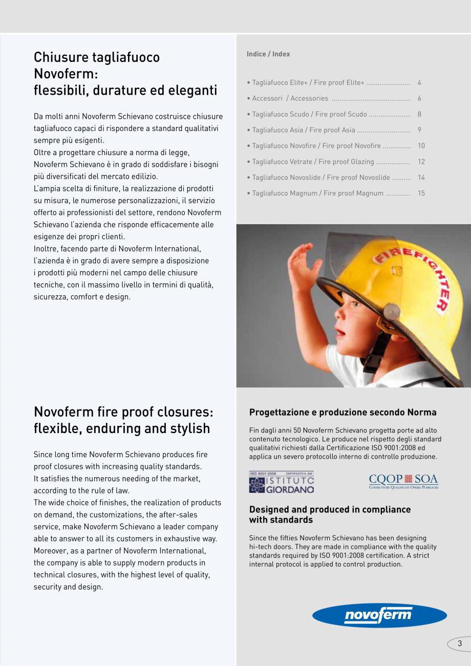 Pagina 3 - Catalog pentru usi rezistente la foc  NOVOFERM metalice Catalog, brosura Italiana of...