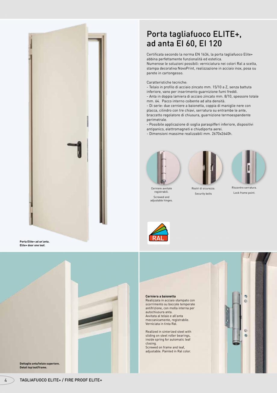 Pagina 4 - Catalog pentru usi rezistente la foc  NOVOFERM metalice Catalog, brosura Italiana zione...