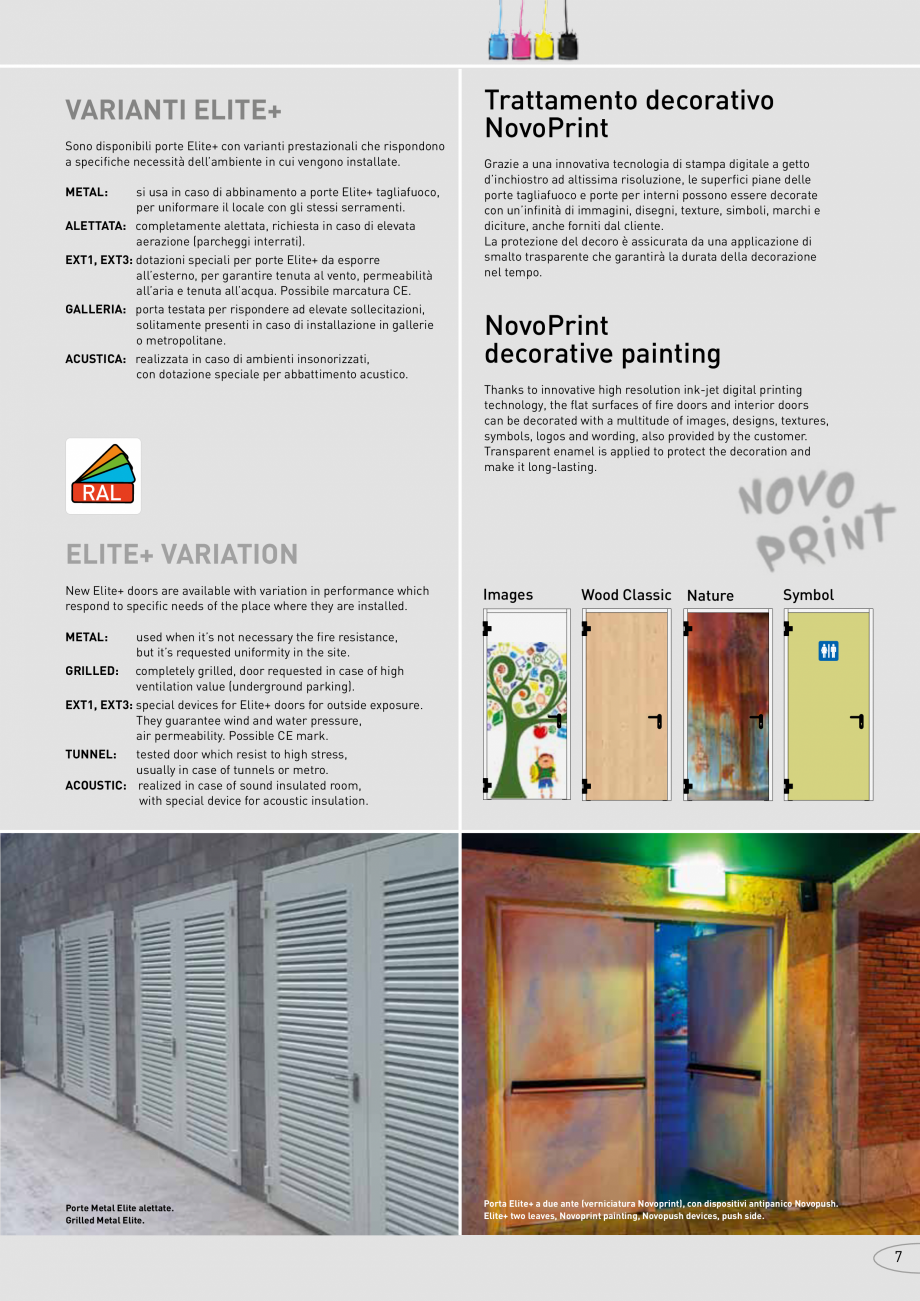 Pagina 7 - Catalog pentru usi rezistente la foc  NOVOFERM metalice Catalog, brosura Italiana  ...