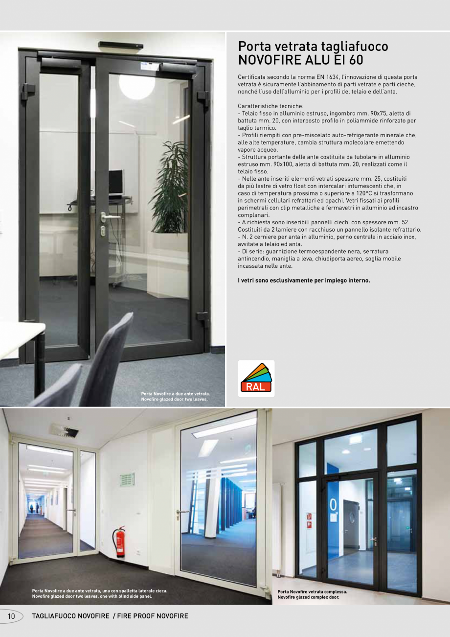 Pagina 10 - Catalog pentru usi rezistente la foc  NOVOFERM metalice Catalog, brosura Italiana ...