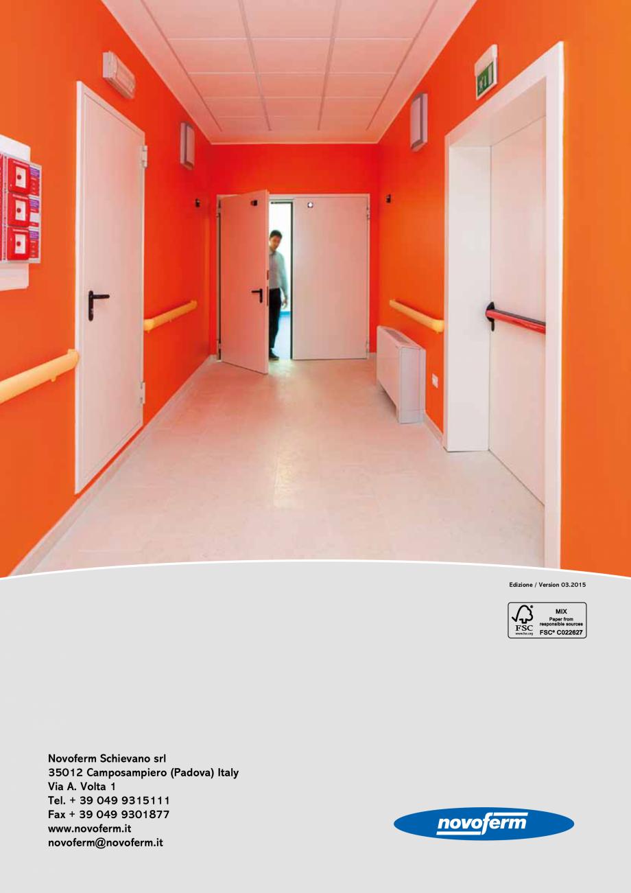 Pagina 16 - Catalog pentru usi rezistente la foc  NOVOFERM metalice Catalog, brosura Italiana o...