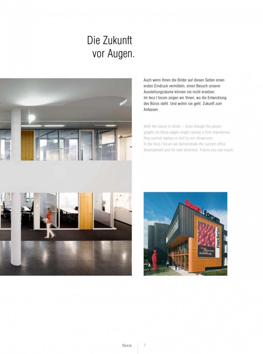 Pagina 1 - Catalog  - Sistem de compartimentare birouri cu usi si pereti din sticla sau lemn FECO...