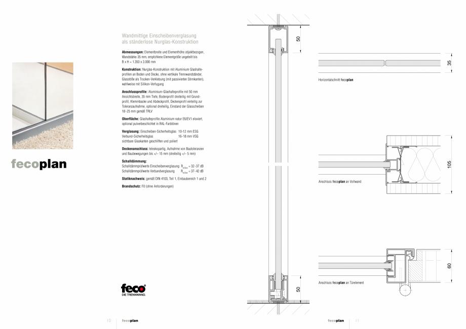Pagina 1 - Detaliile tehnice - compartimentare birouri cu pereti si usi din sticla FECO FecoPlan...
