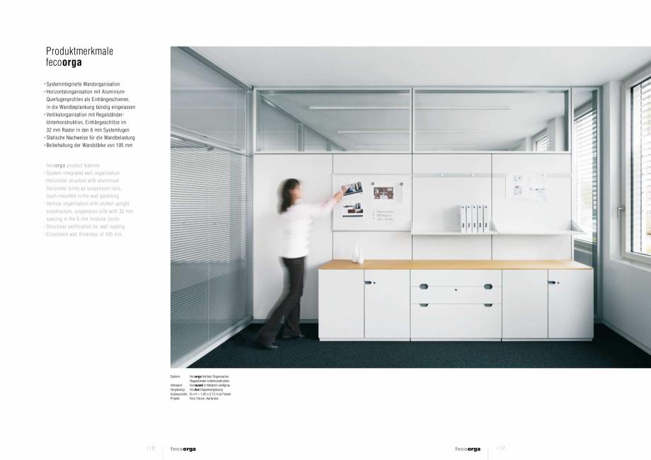 Pagina 4 - Prezentarea compartimentarii biroului cu pereti din sticla FECO FecoOrga Catalog, brosura...