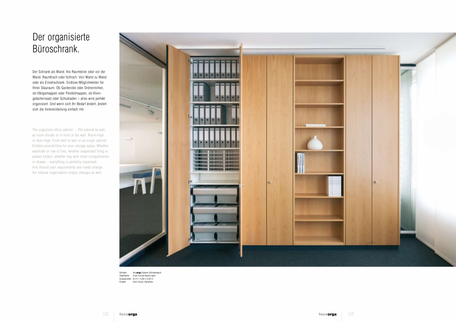 Pagina 6 - Prezentarea compartimentarii biroului cu pereti din sticla FECO FecoOrga Catalog, brosura...