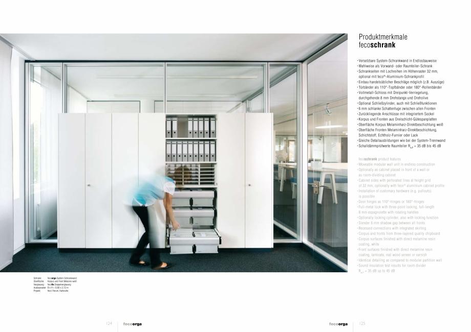 Pagina 7 - Prezentarea compartimentarii biroului cu pereti din sticla FECO FecoOrga Catalog, brosura...